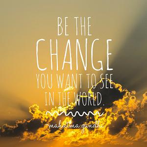 Be the change Thumb