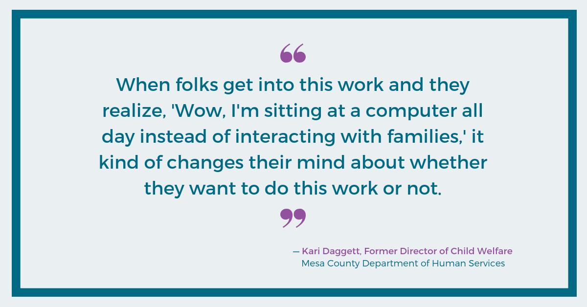 Kari Daggett, Mesa County DHS