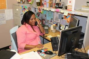 Inform child welfare workers at the desk