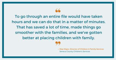 Mae Major, Seneca County Children's Services