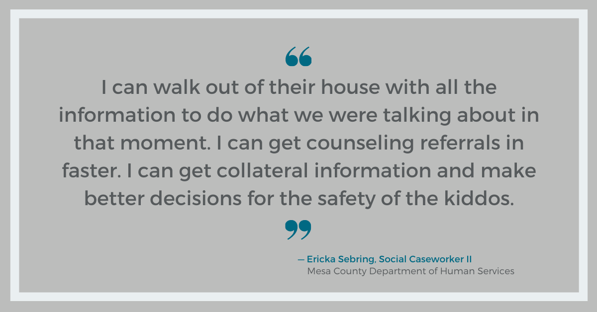 Ericka Sebring, Social Caseworker II