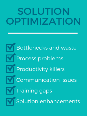 What does a Solution Optimization from Northwoods help your agency identify?