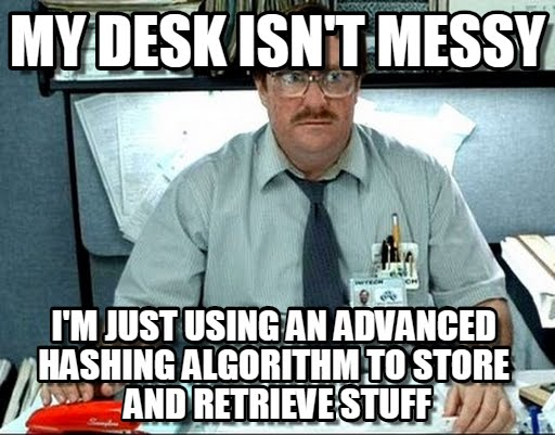 Messy desks are (not) the best